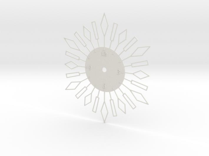 Sunburst Clock - Beverly 3d printed