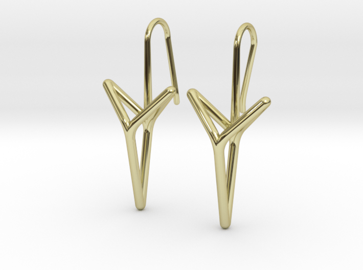 YOUNIVERSAL Straight. Elegant Earrings. 3d printed