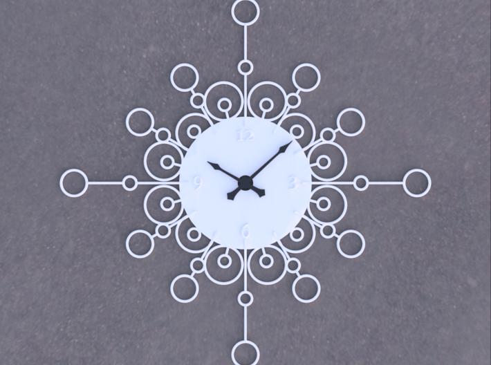 Sunburst Clock - Cordelia 3d printed Render of clock face with hands added