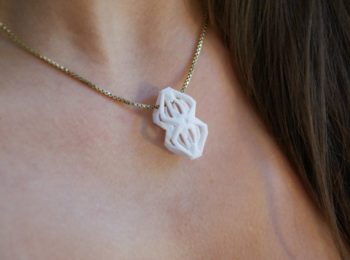 """""""head to head,heart to heart"""" no.59 pendant 3d printed"""