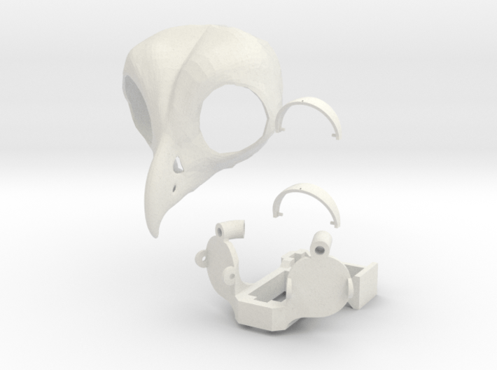 Owl head 3d printed
