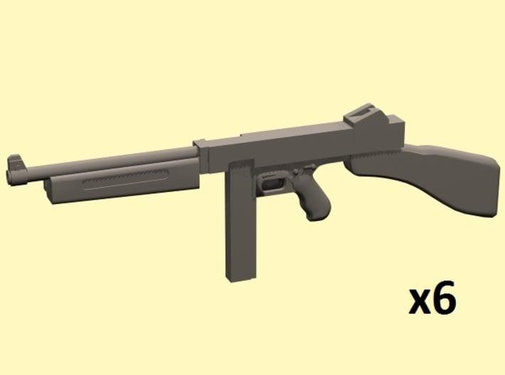 1/25 Thompson smg x6 3d printed
