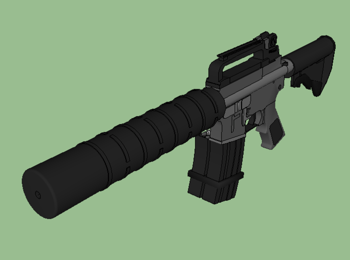 Silencer Handguard in One (14mm-) 3d printed