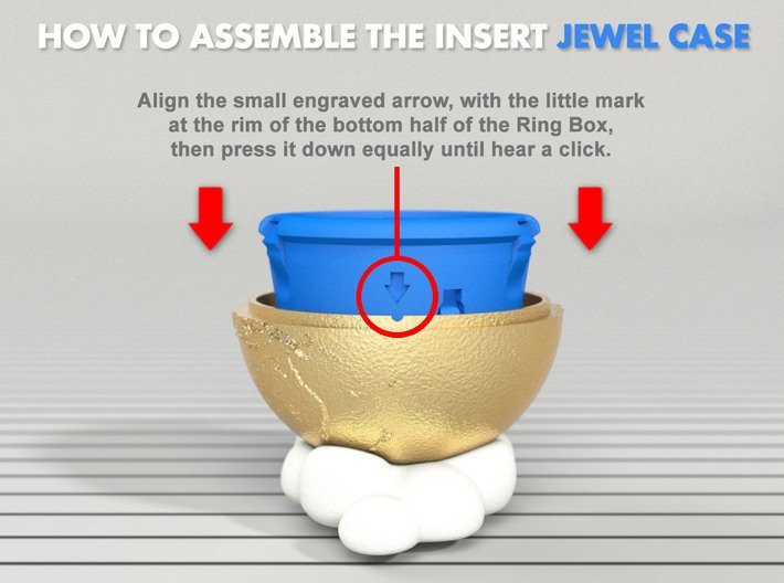 Insert (JEWEL CASE) - (*)For all Ring Boxes! 3d printed How to assemble the INSERT CASE