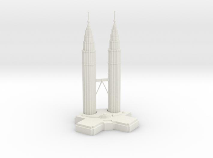 Petronas Towers 3d printed
