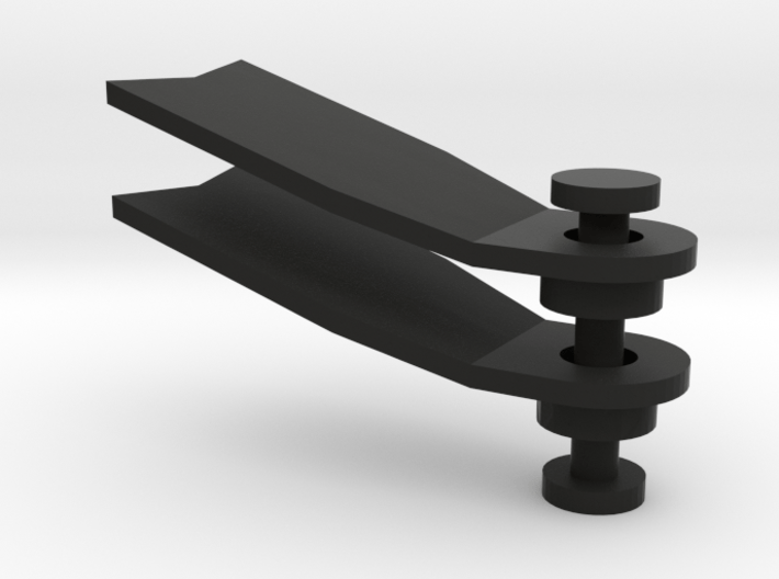 Minifig Apnoe Fins with angled blade 3d printed