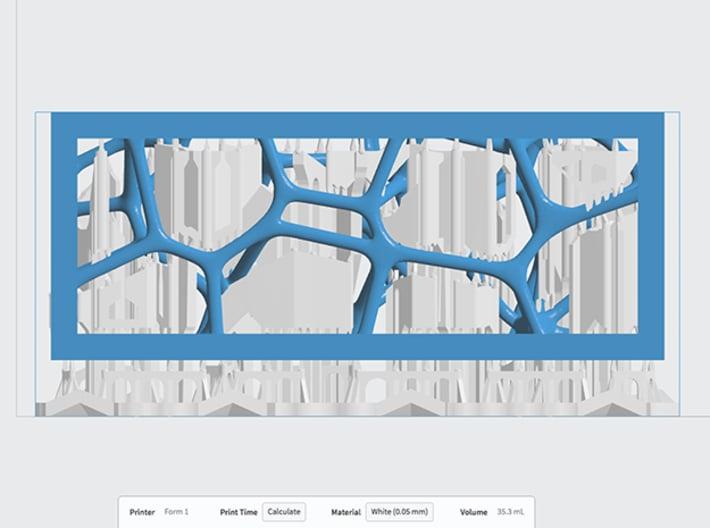Sandstone Voronoi Brick 3d printed PreForm