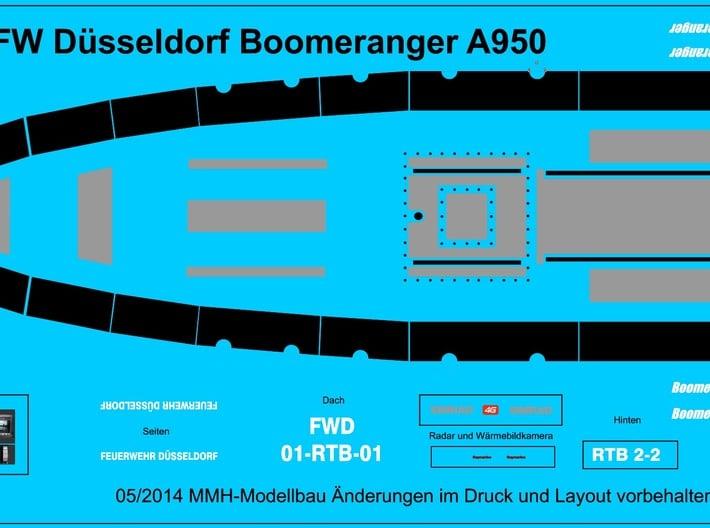 RTB-A950 Wasserlinienmodell Liegend 3d printed