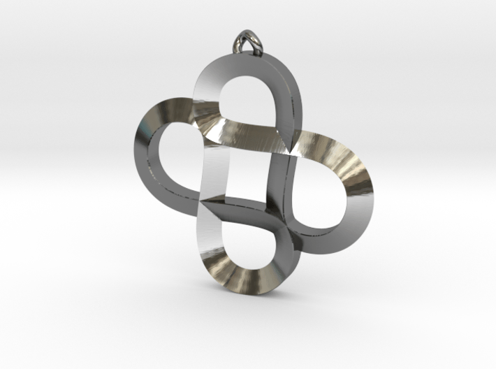 Infinity Hearts - Pendant 3d printed
