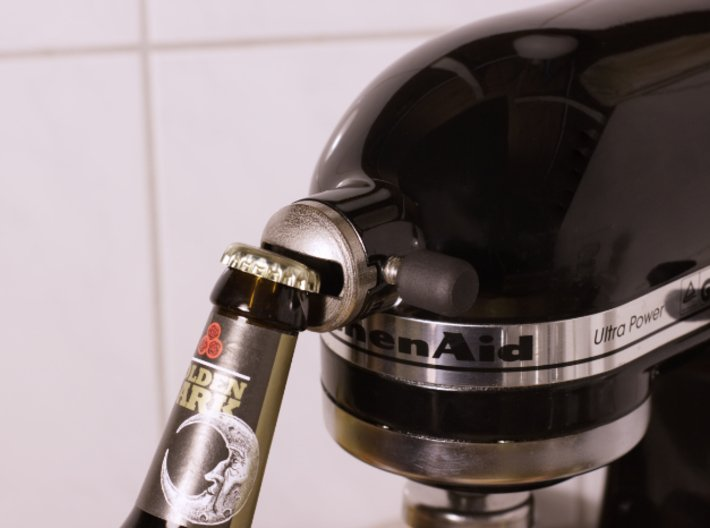 Bottle Opener - Kitchenaid Attachment 3d printed