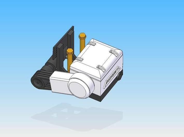 "1990's Drum ""Look-a-Like"" Compressor 3d printed 3D design left"