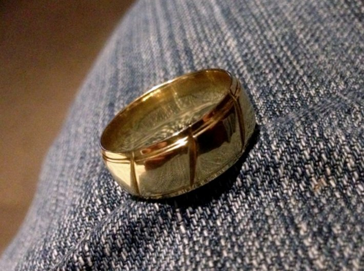 My Wedding Ring 3d printed My Wedding Ring in Polished Brass