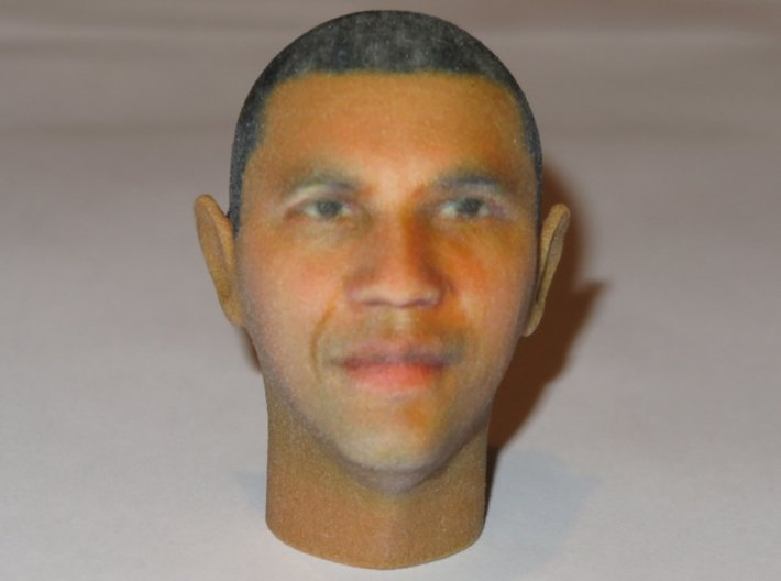 President Barack Obama Head in Full Color 3d printed