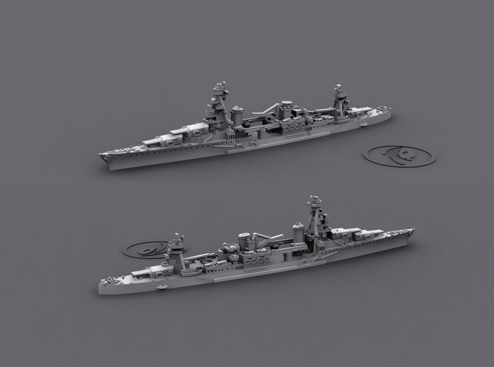 1/1800 US CA27 Chester[1942] 3d printed Computer software render