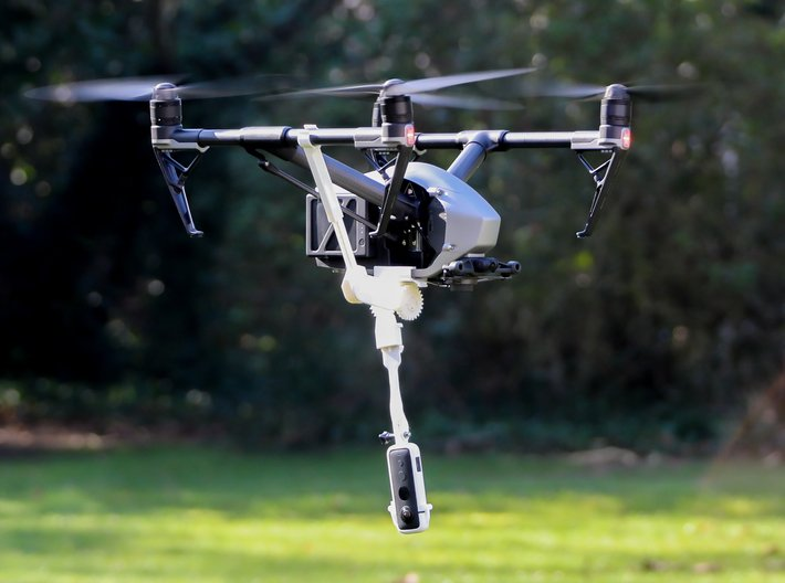 DJi Inspire 2 Bottom Mount 3d printed This retractable landing gear is not included with the bottom mount