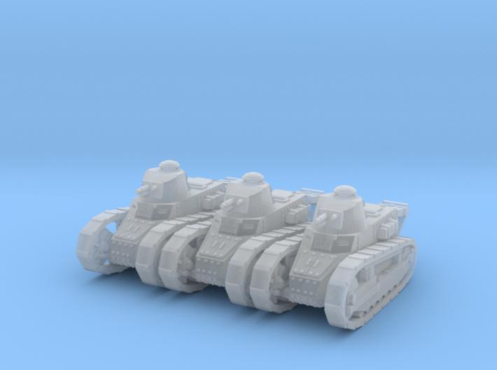 1/160 Renault FT tank x3 3d printed