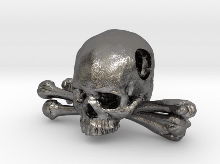 Skull and Crossbones Pendant 3d printed