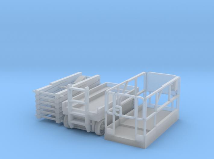 Scissor Lift 1-87 HO Scale Parted 3d printed