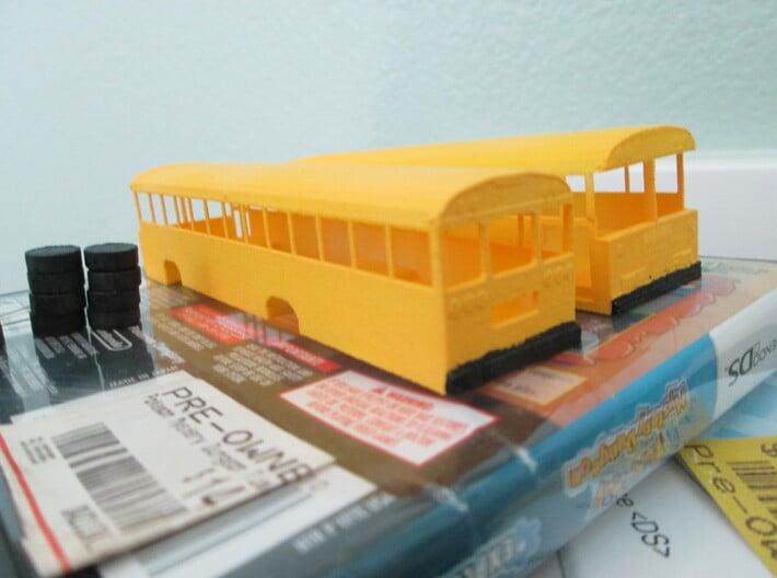 bluebird tc/2000 fe school bus model 1/100 ho scal 3d printed