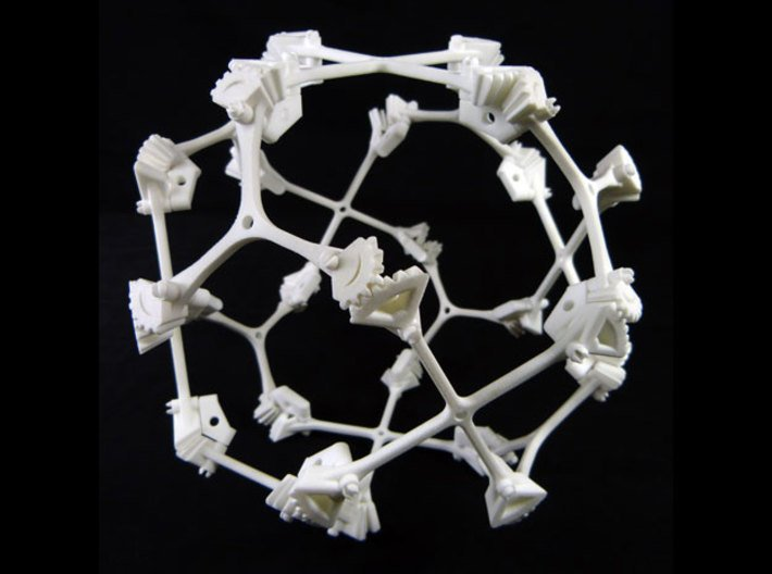 Geared Cuboctahedral Jitterbug 3d printed