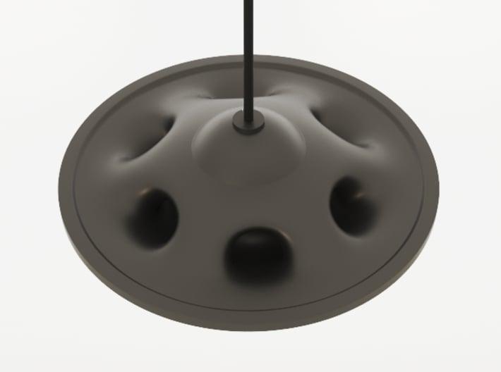 UFO Pendant Light Type A 3d printed Black Natural Versatile Plastic