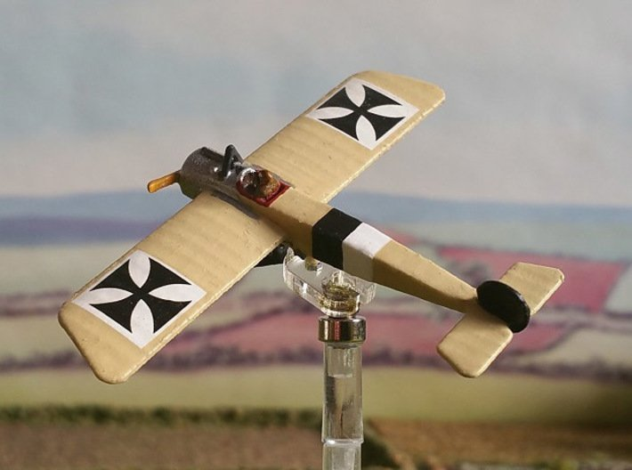 """Fokker E.I 3d printed Photo and paint job by Tim """"Flying Helmut"""" at wingsofwar.org"""