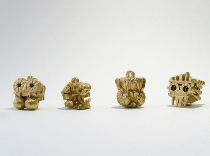 Aztec Bead Tlaloc FA 3d printed All four Idols