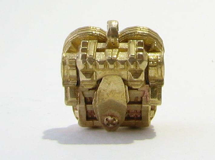 Aztec Bead Chantico FA 3d printed Chantico and Tlaloc as earrings