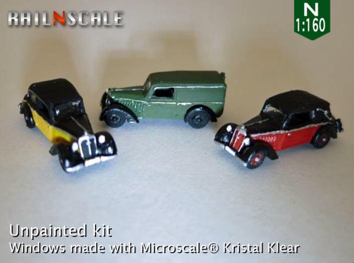SET 3x DKW F7 (N 1:160) 3d printed