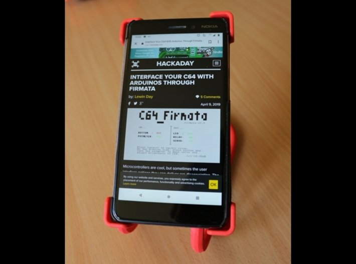 Rotary support for smartphones (example) 3d printed Oriented vertically