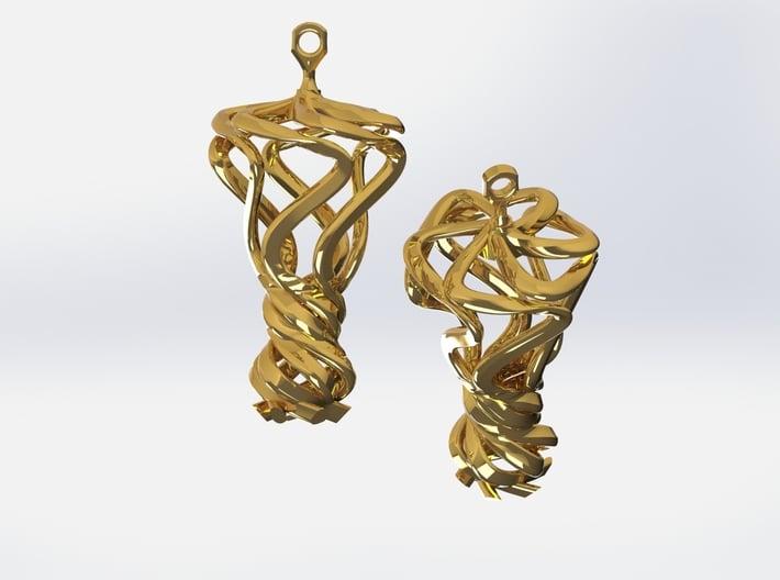 Flamboyant Teardrop Earrings / 3D Printed Earrings 3d printed