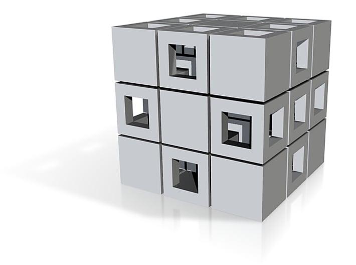 Interlocked Dice - Metal 3d printed