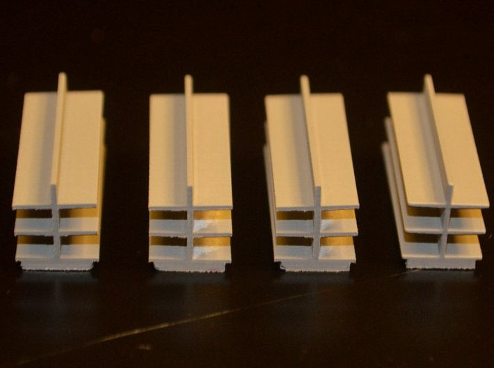 N-Scale Five & Dime Interior 3d printed Painted Production Sample - Shelves