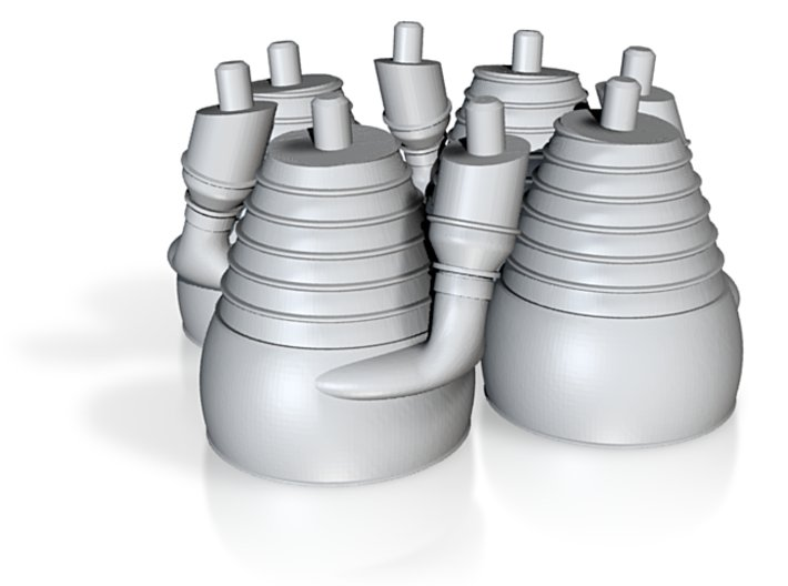 H-1 Engines (1:70 Outboards ONLY) 3d printed