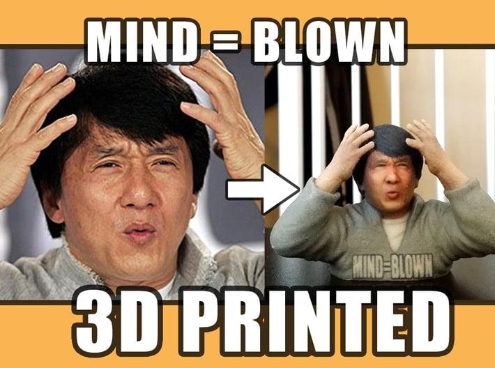 Jackie Chan Mind Blown meme 3D print. 3d printed