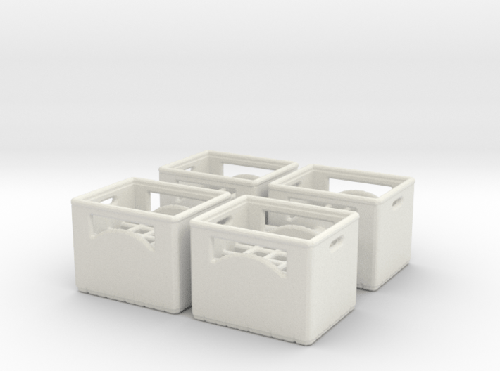 Bottle crate (4 pieces) 1/35 3d printed