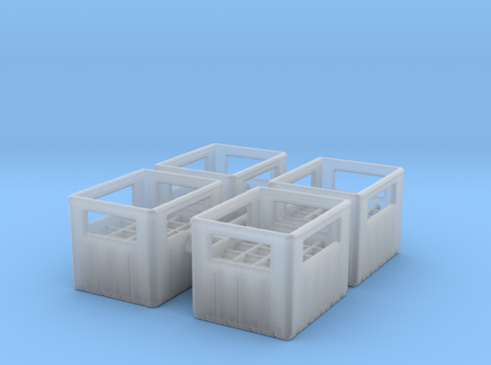 Bottle Crate (4 pieces) 1/76 3d printed