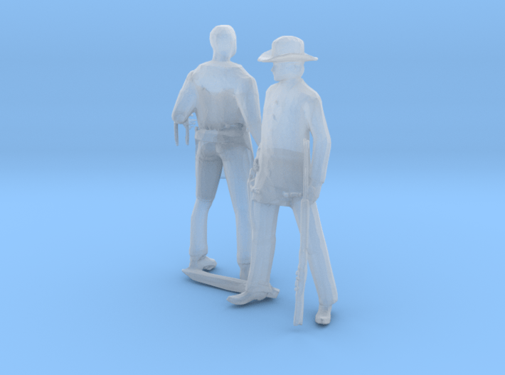 S Scale Old West Figures 3d printed This is a render not a picture