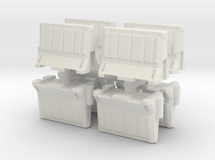 Interlocking traffic barrier (x8) 1/76 3d printed