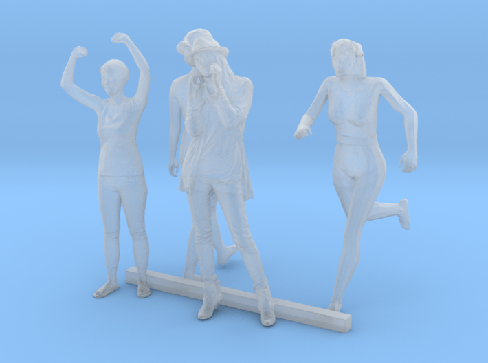 O Scale Standing Women 2 3d printed This is a render not a picture