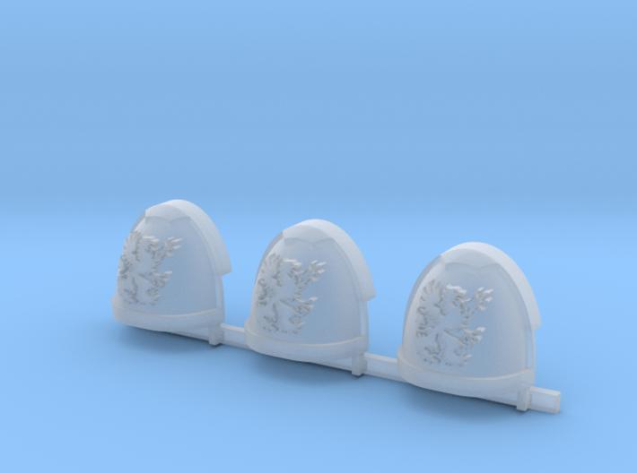 Griffons Gravus Shoulder Pads x3 R #1 3d printed