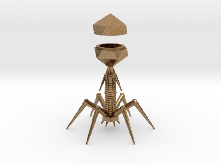 Virus Metal 3d printed Raw Brass