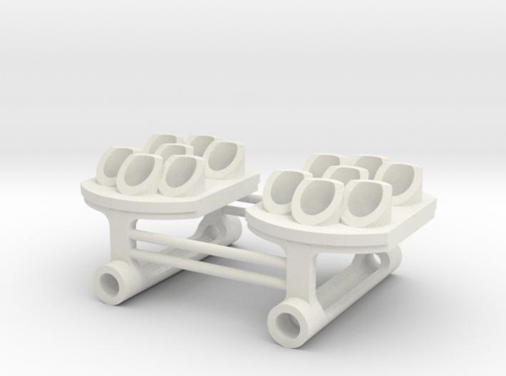 Position Light 7 Bulbs pair  Pennsy RR 3d printed
