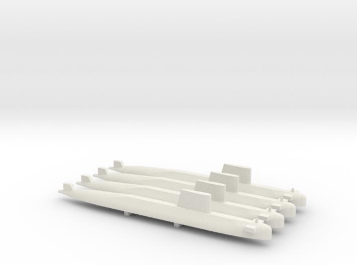 Agosta 70 SSK x 4, 1/700 3d printed