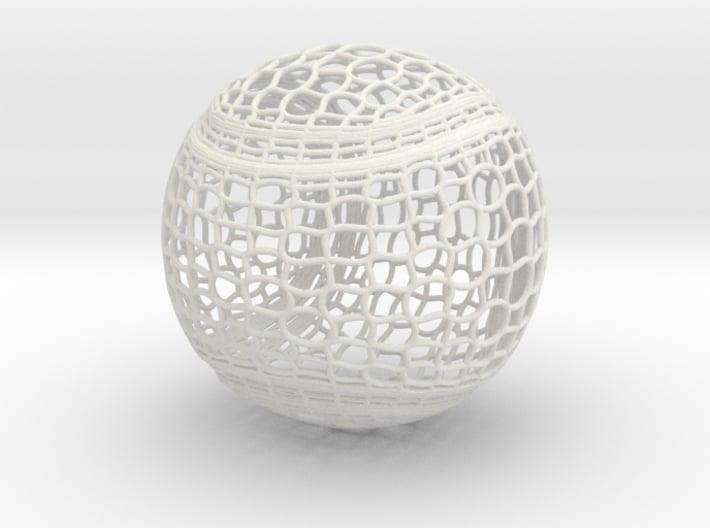 Tennis Ball Curve Wire Mesh 3d printed