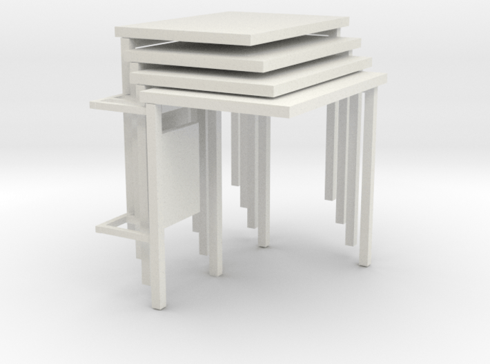 1:76th bus shelter 2 (4 pack) 3d printed