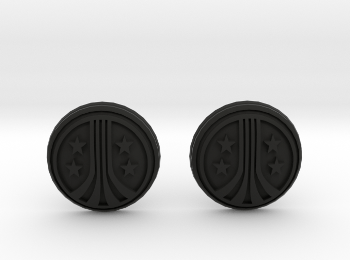 USCM Chinstrap Buttons 1 Set 3d printed