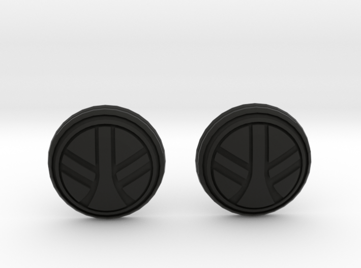 UKCM Chinstrap Buttons 1 Set 3d printed