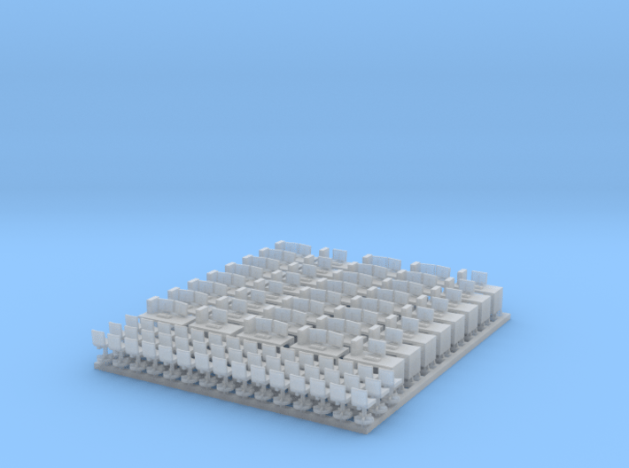 N Scale Office Furniture Bulk 40x 3d printed