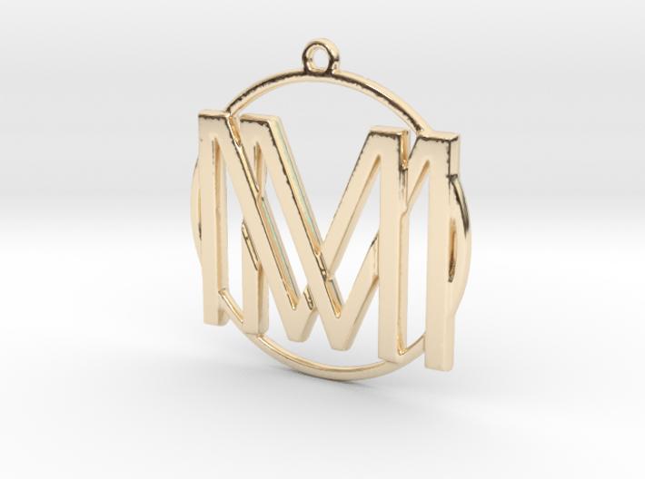 M&M Monogram Pendant 3d printed